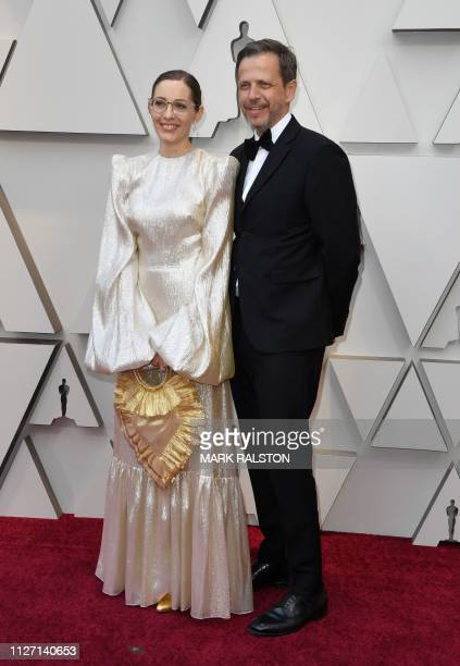 Best Production Design nomineeFiona Crombie and Peter Knowles arrive for the 91st Annual Academy Awards at the Dolby Theatre in Hollywood California...