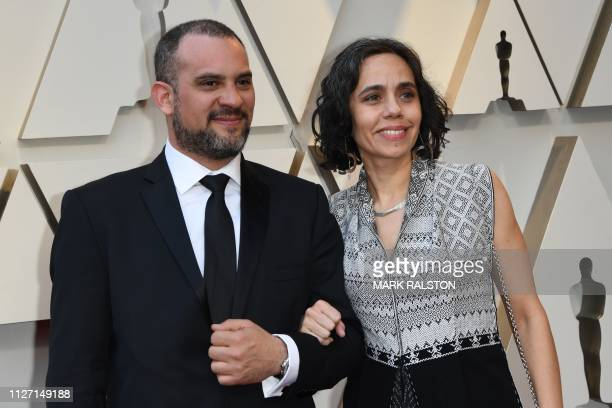 Best Production Design nominees for Roma Barbara Enriquez and a guest arrive for the 91st Annual Academy Awards at the Dolby Theatre in Hollywood...