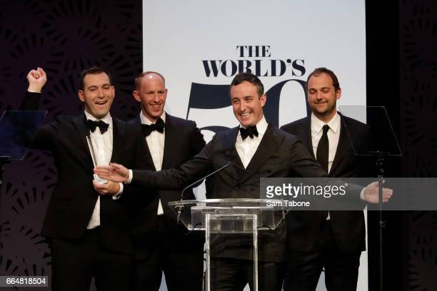 Best restaurant in the world Eleven Madison Park during the World's 50 Best Restaurants Award Ceremony on April 5 2017 in Melbourne Australia