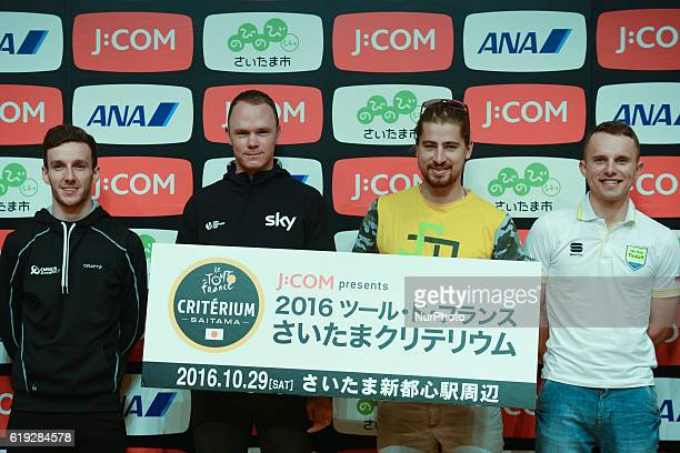 Best riders Adam Yates Christopher Froome Peter Sagan Rafal Majka during the Media day in Saitama Japan on the 28th October For the 4th time le Tour...
