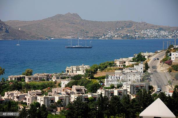 Best sailing yacht interior and highest technical achievement in a sailing award winning yacht ''Maltese Falcon' arrives at Bodrum Turkey The Maltese...