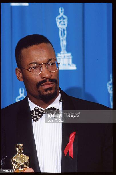 Best Screenwriter nominee John Singleton stands at the 64th annual Academy Awards March 30 1992 in Los Angeles CA The Academy of Motion Picture Arts...