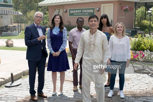 PLACE 'Best Self' Episode 210 Pictured Ted Danson as Michael D'Arcy Carden as Janet William Jackson Harper as Chidi Manny Jacinto as Jianyu Jameela...