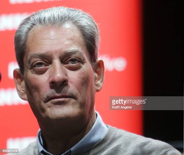 Best selling author Paul Auster lectures from his new book 'Man in Darkness' at Kampnagel on September 30 2008 in Hamburg Germany