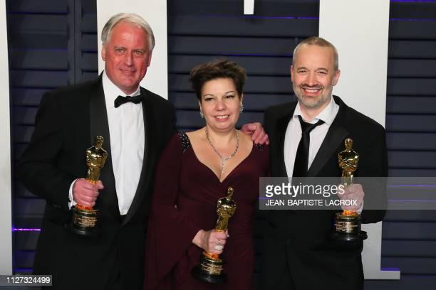 Best Sound Mixing winner for Bohemian Rhapsody Paul Massey and Best Sound Editing winners for Bohemian Rhapsody John Warhurst and Nina Hartstone...