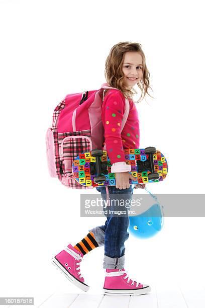 best student - alleen één meisje stockfoto's en -beelden