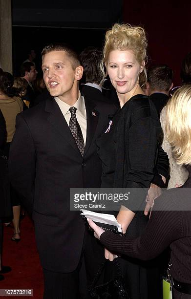 Best Supporting Actor in a miniseries nominee Barry Pepper and wife Cindy arrive for the 53rd Annual Primetime Emmy Awards