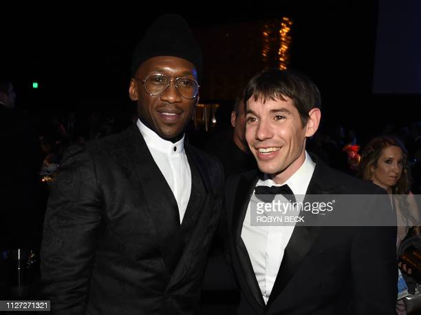 Best Supporting Actor winner for Green Book Mahershala Ali and Alex Honnold attend the 91st Annual Academy Awards Governors Ball at the Hollywood...