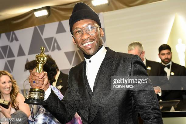 TOPSHOT Best Supporting Actor winner for Green Book Mahershala Ali attends the 91st Annual Academy Awards Governors Ball at the Hollywood Highland...