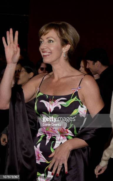 Best Supporting Actress in a Drama Series nominee Allison Janney arrives for the 53rd Annual Primetime Emmy Awards. Janey won the award for her role...