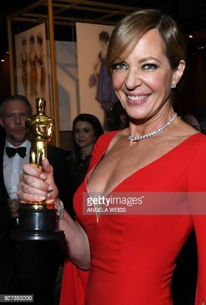Best Supporting Actress laureate Allison Janney attends the 90th Annual Academy Awards Governors Ball at the Hollywood Highland Center on March 4 in...