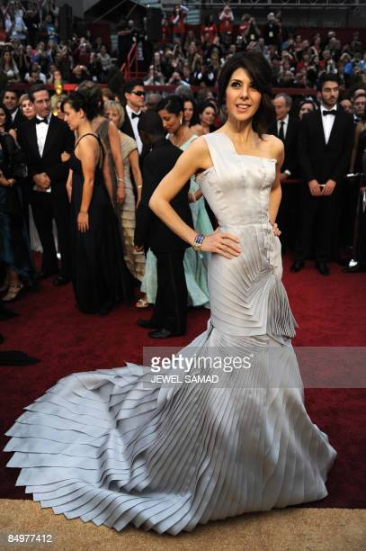 Best Supporting Actress nominee Marisa Tomei arrives for the 81st Academy Awards at the Kodak Theater in Hollywood California on February 22 2009 AFP...