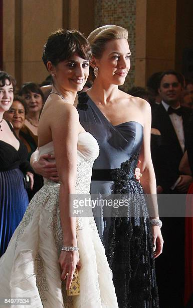 Best Supporting Actress Nominee Penelope Cruz and Best Actress Nominee Kate Winslet arrive at the 81st Academy Awards at the Kodak Theater in...