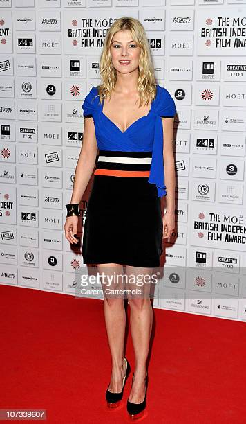 Best Supporting Actress Nominee Rosamund Pike attends the Moet British Independent Film Awards at Old Billingsgate Market on December 5, 2010 in...