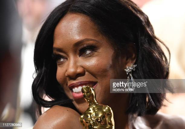 Best Supporting Actress winner for If Beale Street Could Talk Regina King attends the 91st Annual Academy Awards Governors Ball at the Hollywood...