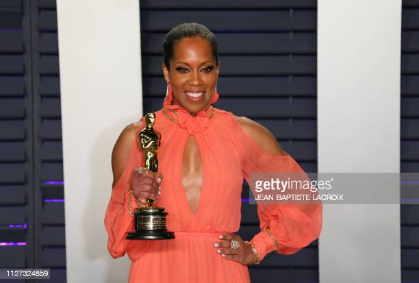 Best Supporting Actress winner for If Beale Street Could Talk Regina King attends the 2019 Vanity Fair Oscar Party following the 91st Academy Awards...