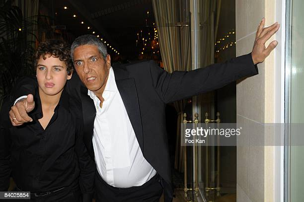 Bests 2008 Awarded Actor Samy Naceri and his son Julian attend The Bests 2008 Awards Ceremony at the Bristol Hotel on December 01 2008 in Paris France