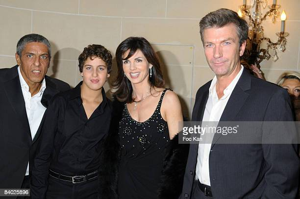 Bests 2008 Awarded Actor Samy Naceri his son Julian Caroline Barclay and Actor Philippe Caroit attend The Bests 2008 Awards Ceremony at the Bristol...