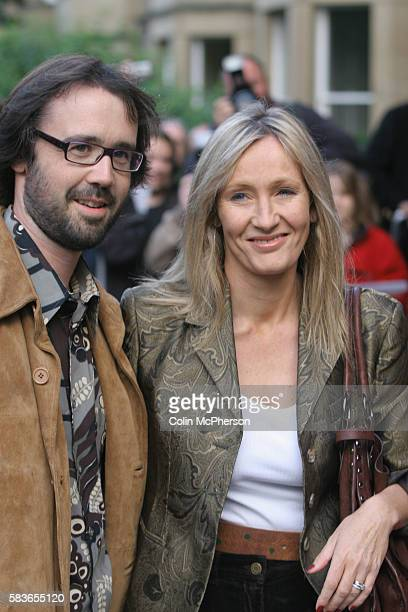 Bestselling author J K Rowling and her husband Neil Murray arrive at the premiere of Snow Cake at the Dominion Cinema in Edinburgh directed by Marc...