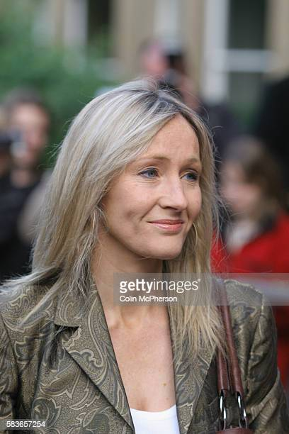 Bestselling author J K Rowling arrives at the premiere of Snow Cake at the Dominion Cinema in Edinburgh directed by Marc Evans and costarring...