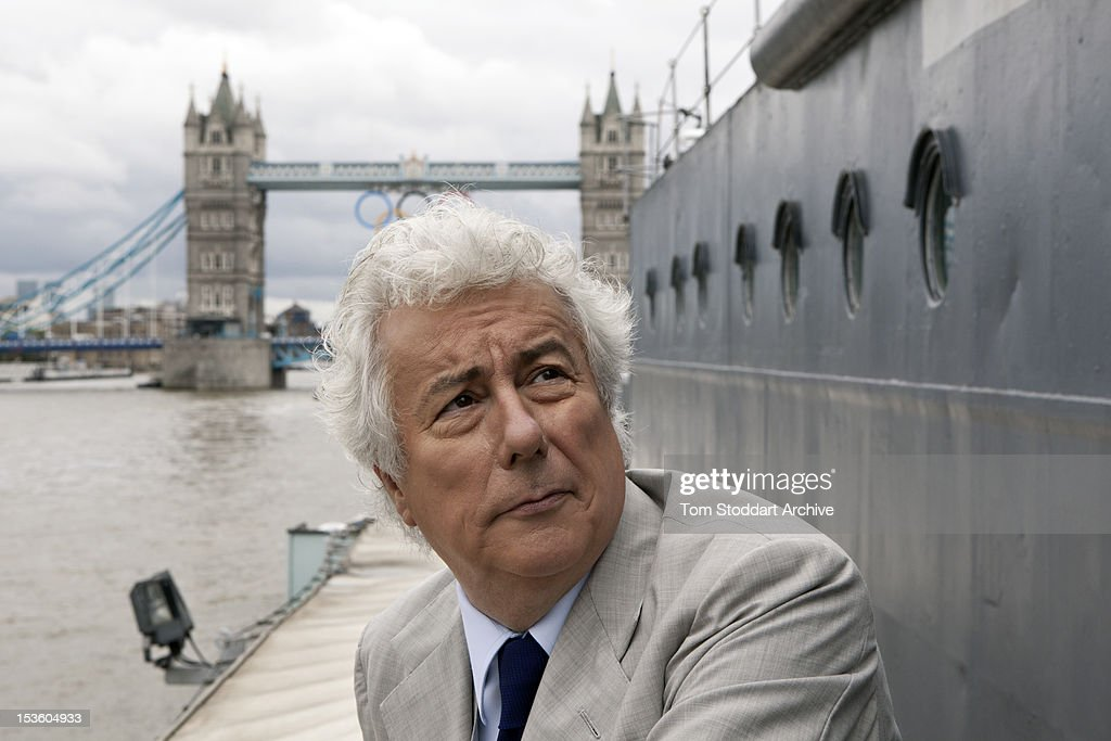 Best-selling author Ken Follett photographed on board HMS Belfast moored near Tower Bridge on the River Thames, London. Mr Follett's thrillers and historical novels have sold more than 130 million copies and four of his books have reached number 1 on the New York Times best-sellers list. His book Winter of the World is set before and during World War II and is the second novel of a trilogy entitled 'Century' that follows the lives of five linked families during the upheaval of the mid-twentieth century.