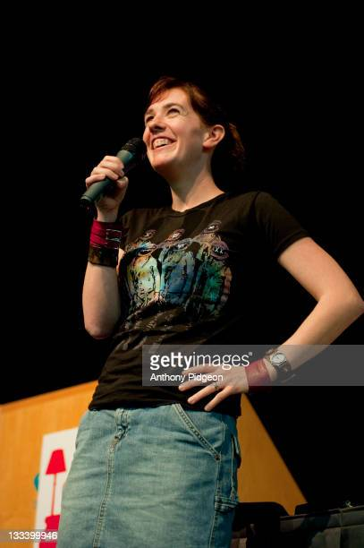 Bestselling author Maggie Stiefvater speaks onstage at the 2011 Wordstock Literary Festival at the Oregon Convention Center on October 9 2011 in...