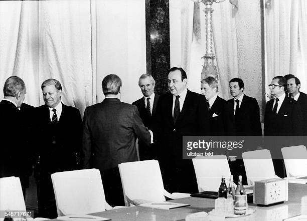Besuch von Bundeskanzler Helmut Schmidt in der Sowjetunion die Delegationen der UdSSR und der BRD vor Beginn der Verhandlungen im Katharinensaal des...