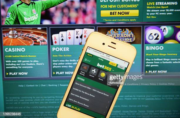 Bet 365 Website and IPhone.