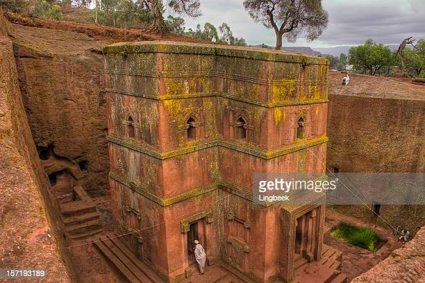 bet giorgis, lalibela ethiopia - ethiopia stock photos and pictures