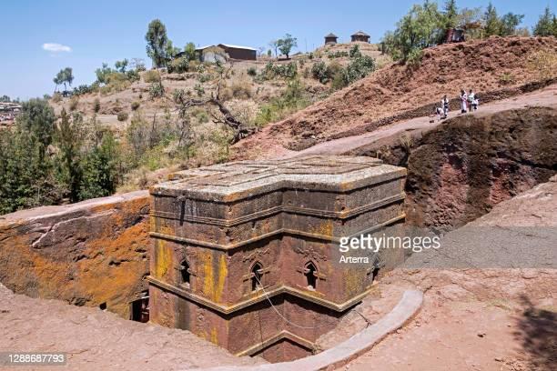 Beta Giorgis / Bete Giyorgis / Church of Saint George, one of eleven rock-hewn monolithic churches in Lalibela, Lasta Amhara Region, Ethiopia, Africa.