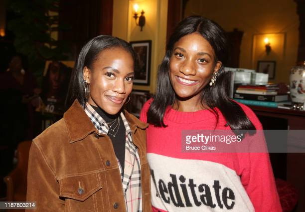 BETcom Style Director Danielle Prescod and guest pose at the celebration for the North of 40 Podcast Launch at Dapper Dan Atelier on November 14 2019...