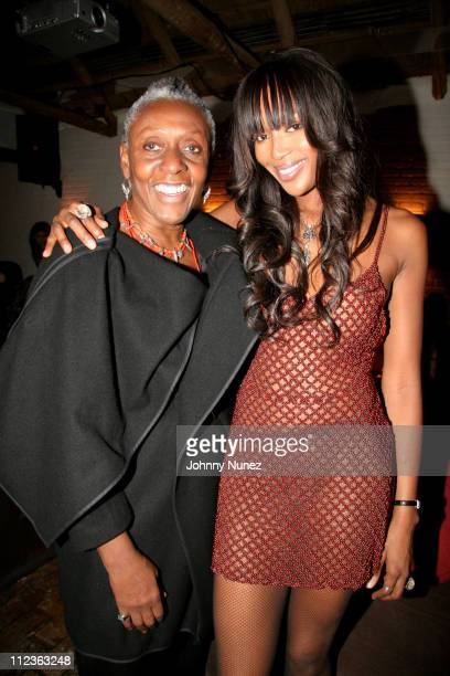 Beth Ann Hardison and Naomi Campbell during Naomi Campbell and Giuseppe Cipriani Holiday Party December 5 2005 at Cipriani in New York New York...