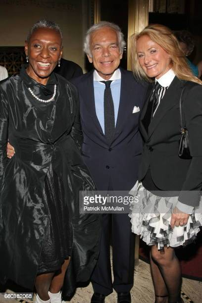 Beth Ann Hardison Ralph Lauren and Ricky Lauren attend Celebrating Fashion Gala Awards Dinner to Support The GORDON PARKS Foundation at Gotham Hall...