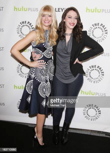 Beth Behrs and Kat Dennings arrive at the 30th Annual PaleyFest The William S Paley Television Festival '2 Broke Girls' held at Saban Theatre on...