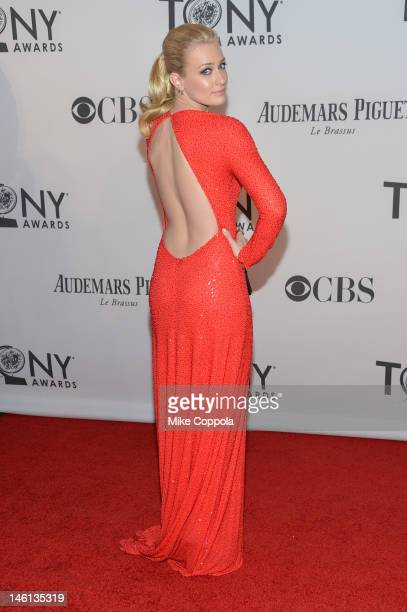 Beth Behrs attends the 66th Annual Tony Awards at The Beacon Theatre on June 10 2012 in New York City