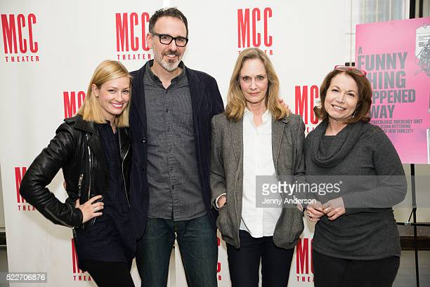 """Beth Behrs, Erik Lochtefeld, Lisa Emery and Jacqueline Sydney attend """"A Funny Thing Happened on the Way to the Gynecologic Oncology Unit at Memorial..."""