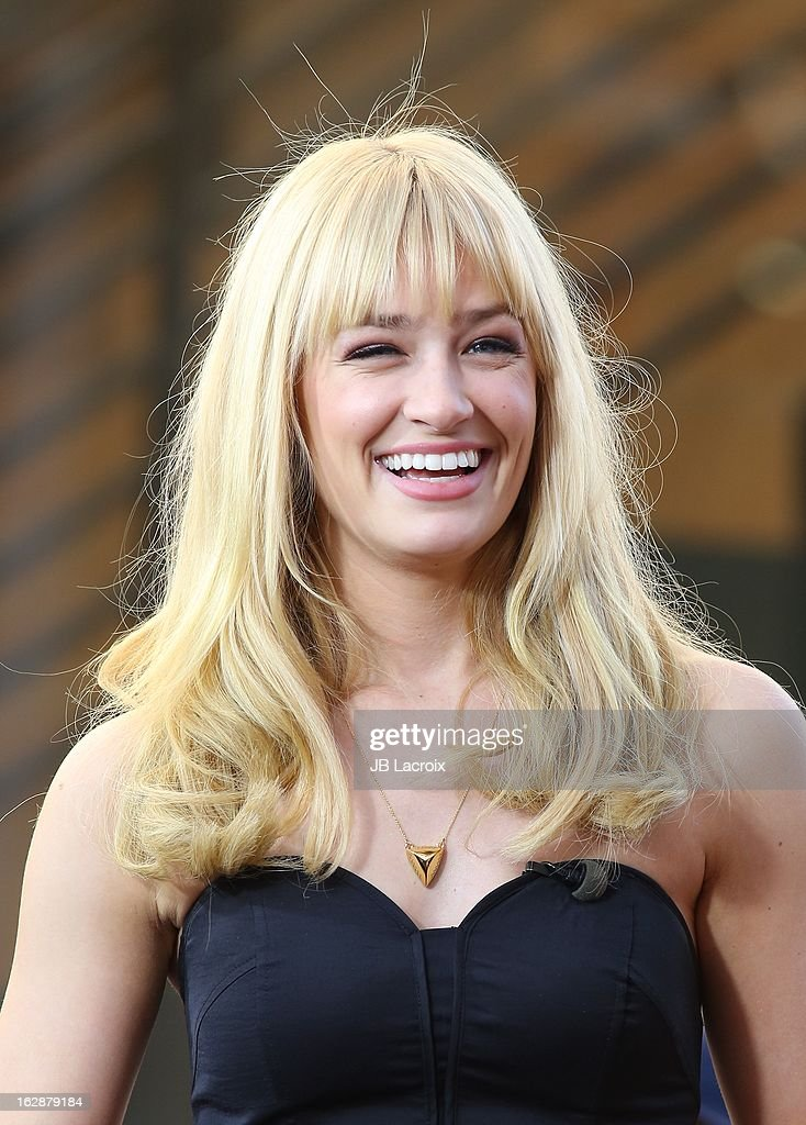 Beth Behrs is seen at The Grove on February 28, 2013 in Los Angeles, California.