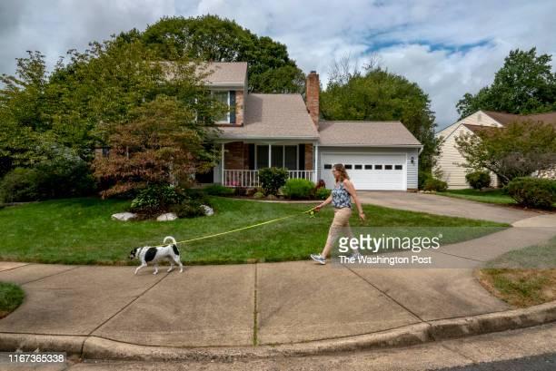 Beth BennettHague walks with Matt in the Dunleigh neighborhood in Burke VA on August 28 2019