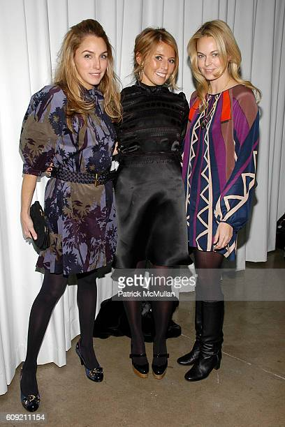 Beth Blake Melissa Akey and Lauren DuPont attend GLAMOUR Magazine Fashion Gives Back Party at Milk Studios Penthouse on February 1 2007 in New York...