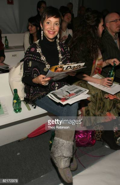 Beth Buecini attends the Jeffrey Chow Fall 2005 fashion show during the Olympus Fashion Week at Bryant Park February 10 2005 in New York City