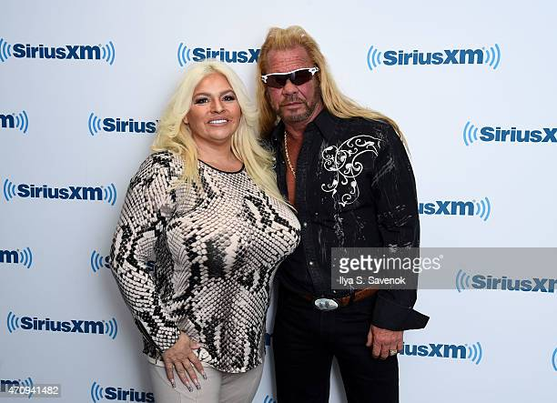 Beth Chapman and Dog the Bounty Hunter Duane Chapman visits the SiriusXM Studios on April 24 2015 in New York City