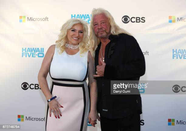 Beth Chapman and Duane Chapman attend the Sunset on the Beach event celebrating season 8 of Hawaii Five0 at Queen's Surf Beach on November 10 2017 in...