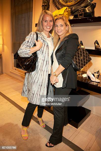 Beth Coleman and Amy Dwek attend ROGER VIVIER shopping and champagne party hosted by INES DE LA FRESSANGE and The Senior Associates of THE SOCIETY of...