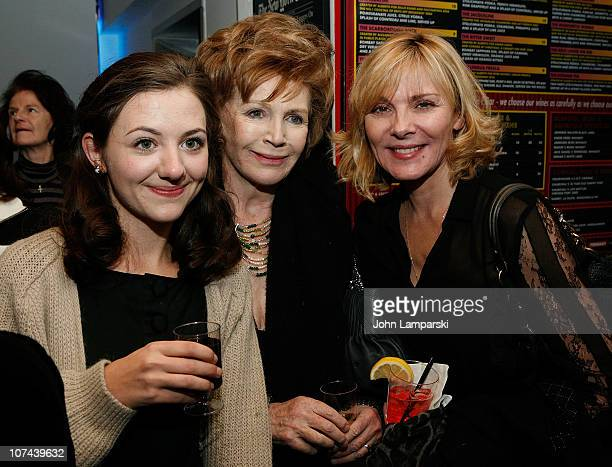 Beth Cooke Edna O'Brien and Kim Cattrall attend the opening night of Haunted at 59E59 Theaters on December 8 2010 in New York City