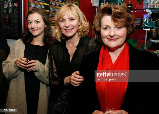 Beth Cooke Kim Cattrall and Brenda Blethyn attend the opening night of 'Haunted' at 59E59 Theaters on December 8 2010 in New York City