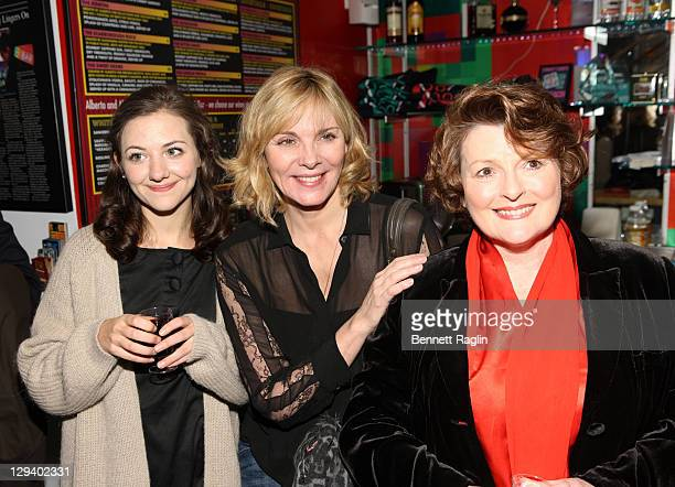 Beth Cooke Kim Cattrall and Brenda Blethyn attend the opening night of Haunted at 59E59 Theaters on December 8 2010 in New York City