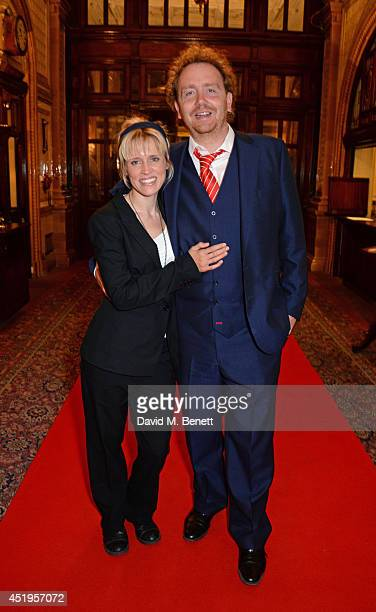 Beth Cordingly and Adam Speers attend an after party celebrating the Gala Night performance of Richard III playing at the Trafalgar Studios at One...