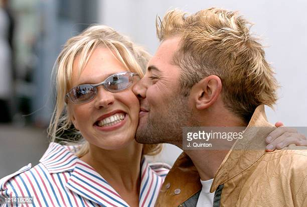 Beth Cordingly and Daniel MacPherson during London Fashion Week Spring 2005 Scott Henshall Arrivals at Saatchi Gallery Building in London Great...