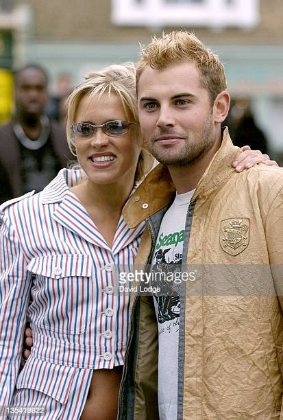 Beth Cordingly and Daniel MacPherson during London Fashion Week Spring 2005 Scott Henshall Arrivals at ExSaatchi Gallery in London Great Britain