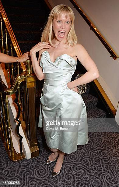 Beth Cordingly attends an after party following the press night performance of Dirty Rotten Scoundrels at The Savoy Hotel on April 2 2014 in London...